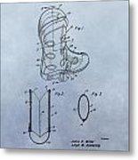 Cowboy Boot Patent Metal Print