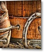 Cowboy Boots And Spurs Metal Print by Paul Ward