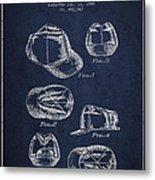 Cowboy Cap Patent - Navy Blue Metal Print