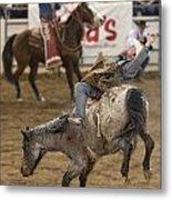 Cowboy Hang On Metal Print