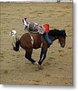 Cowboy Loses His Hat Metal Print