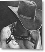 Cowboy Pilot Metal Print