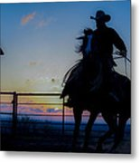 Cowboy Pirouette Metal Print