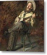 Cowboy Singing Metal Print