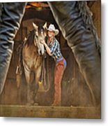 Cowgirl And Cowboy Metal Print