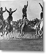 Cowgirls At The Rodeo Metal Print