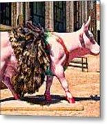 Cow Parade N Y C 2000 - Prima Cowlerina Metal Print