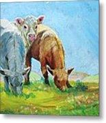 Cows Landscape Metal Print