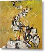 Cows Metal Print by Negoud Dahab