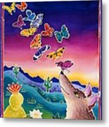 Coyote And The Laughing Butterflies Metal Print