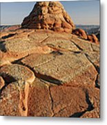Coyote Buttes Rock Formation Metal Print