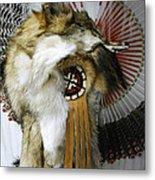 Coyote Headdress 1 Metal Print