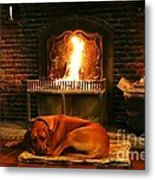 Cozy By The Fire Metal Print