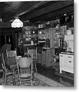 Cozy Cabin Metal Print by Diane Mitchell