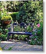 Cozy Southern Garden Bench Metal Print