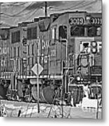 Cp Rail Train Bwtr9099-12 Metal Print