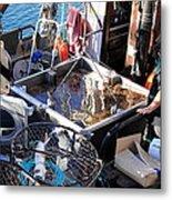 Crab Boat Metal Print