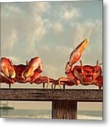 Crab Dance Metal Print