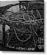 Crab Pot Metal Print