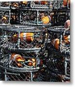 Crab Pots Metal Print by Brandon Bourdages