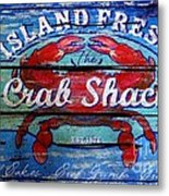 Crab Shack Metal Print