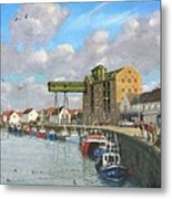 Crabbing - Wells-next-the-sea Norfolk Metal Print