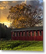 Crack Of Dawn Metal Print by Debra and Dave Vanderlaan
