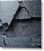 Cracked Asphalt Macro Metal Print