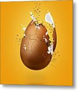 Cracked Egg Metal Print by Andrea Aycock