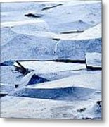 Cracked Icescape Metal Print