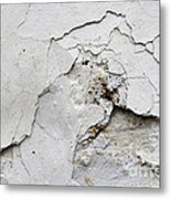 Cracked Stucco - Grunge Background Metal Print