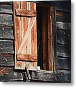 Cracker House Window Metal Print