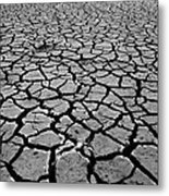 Cracks For Miles Black And White Metal Print