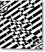 Cracks In The Pavement Maze  Metal Print
