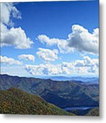 Craggy Gardens Draped In Clouds Metal Print