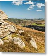 Crags Over Rothbury Metal Print