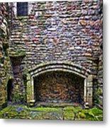 Craigsmillar Castle Kitchen Fireplace Metal Print