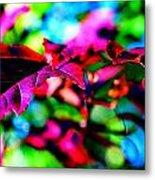 Cranberry Leaf Metal Print