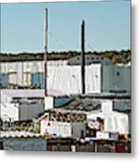 Cranes At Metal Factory, Bath Metal Print