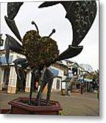 Crap Sculpture Fisherman's Wharf San Francisco Metal Print