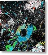 Crash Of The Eye Galaxy Metal Print