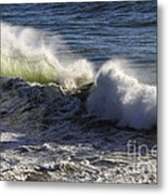 Crashing Metal Print