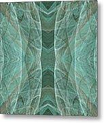Crashing Waves Of Green 2 - Panorama - Abstract - Fractal Art Metal Print