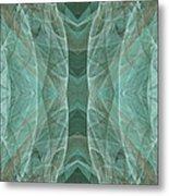 Crashing Waves Of Green 4 - Square - Abstract - Fractal Art Metal Print