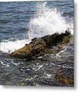 Crashing Waves - Rhode Island Metal Print