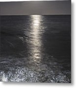 Crashing With The Moon Metal Print