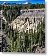 Crater Lake Canion Metal Print