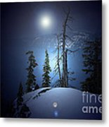 Crater Lake Midnight Oregon Metal Print