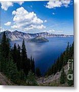 Crater Lake Pnorama - 2 Metal Print