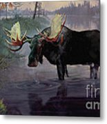 Craven Moose Metal Print